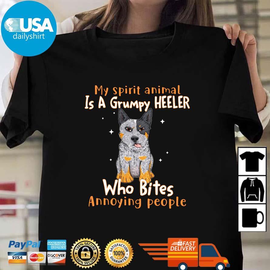 My spirit animal is a grumpy heeler who bites annoying people Ladies den Usadailyshirts