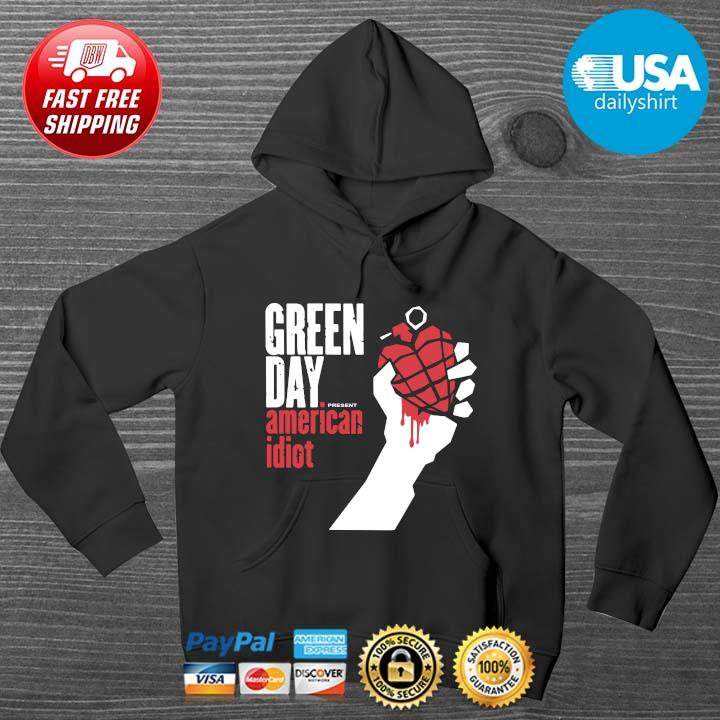 Green day present American idiot HOODIE DENS