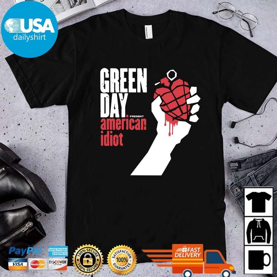 Green day present American idiot shirt