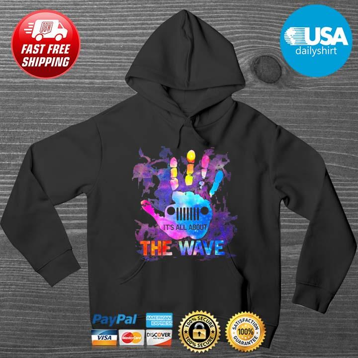 Hands it_s all about the wave color HOODIE DENS