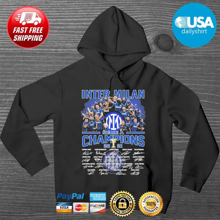 Inter Milan serie a Champions 2021 signatures HOODIE DENS
