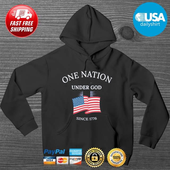 One nation under god since 1776 American flag HOODIE DENS