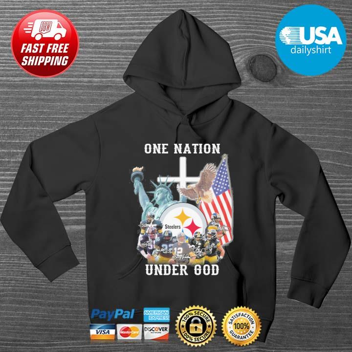 Pittsburgh Steelers football team one nation under god signatures HOODIE DENS