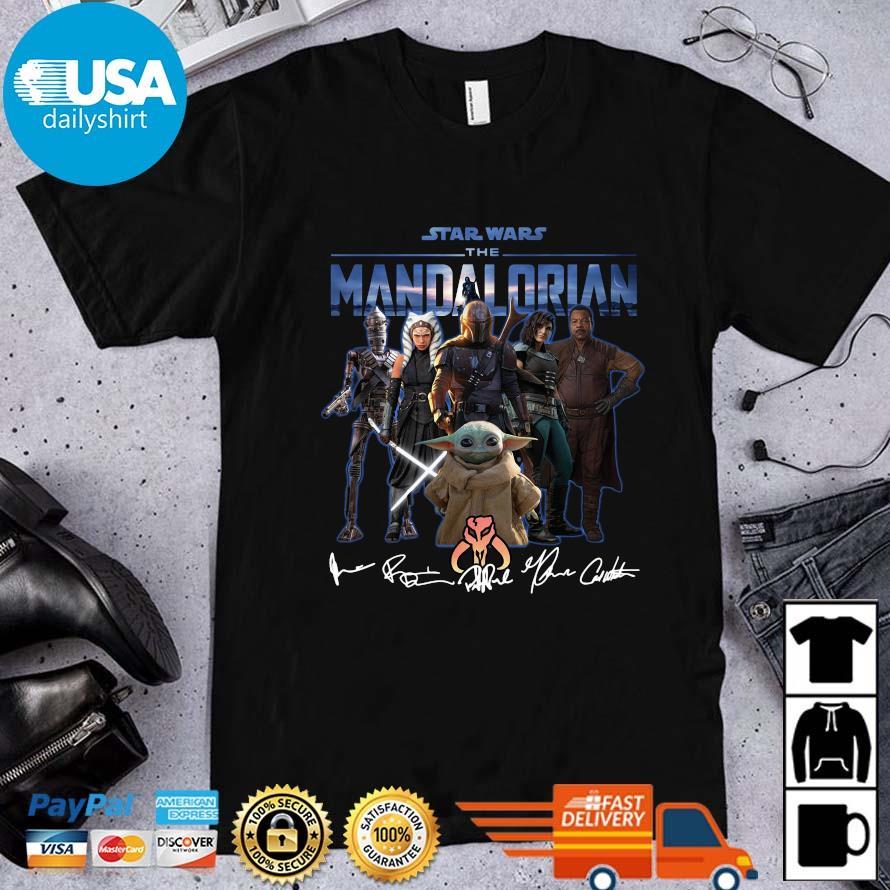 Star Wars character The Mandalorian signatures shirt