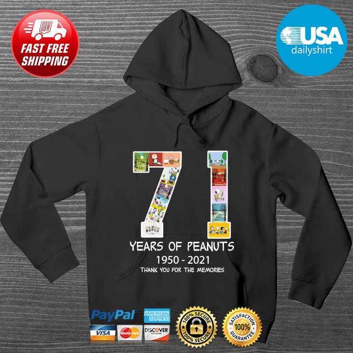 71 years of Peanuts 1950-2021 thank you for the memories HOODIE DENS