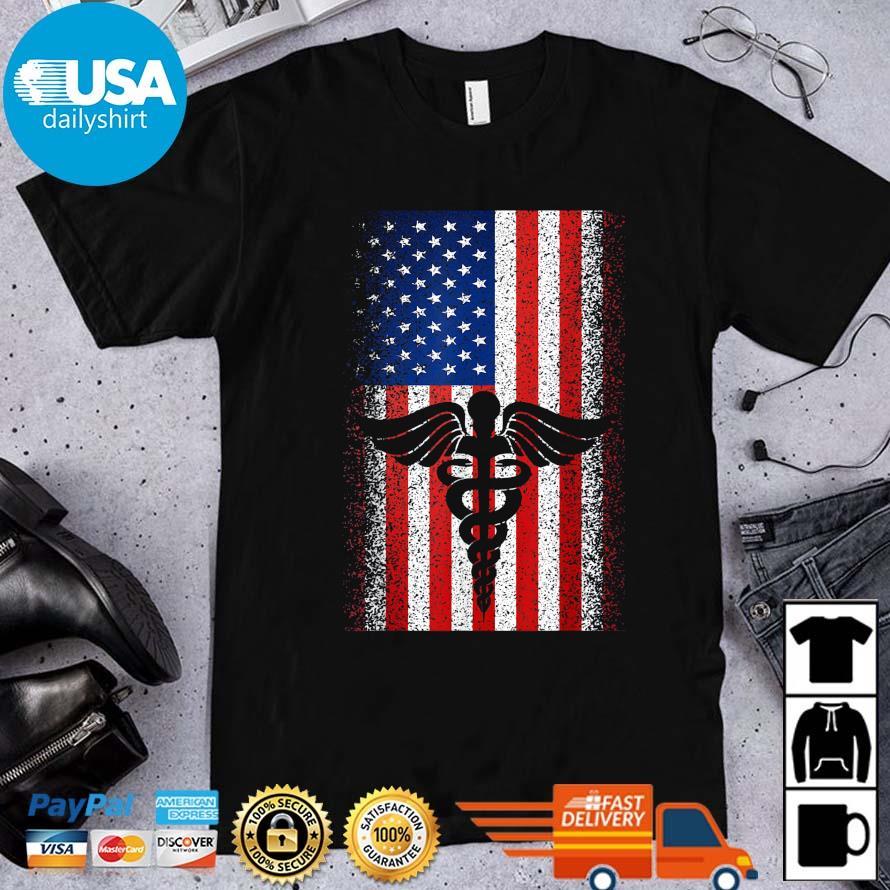 Nurse logo American flag 4th Of July shirt