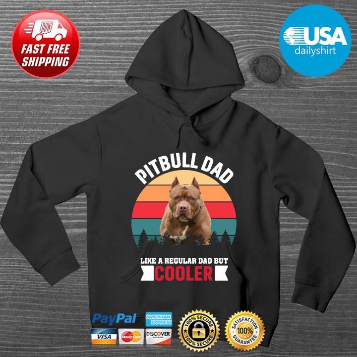 Pitbull dad like a regular dad but cooler vintage HOODIE DENS