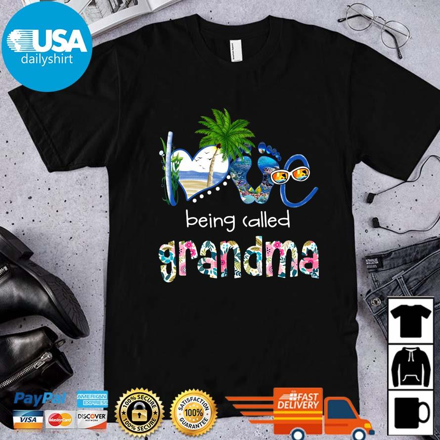 Summer love being called grandma flower shirt