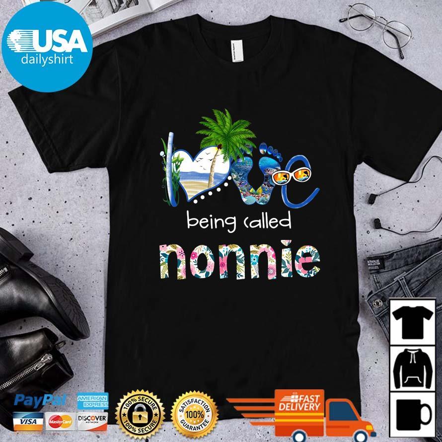 Summer love being called nonnie flower shirt