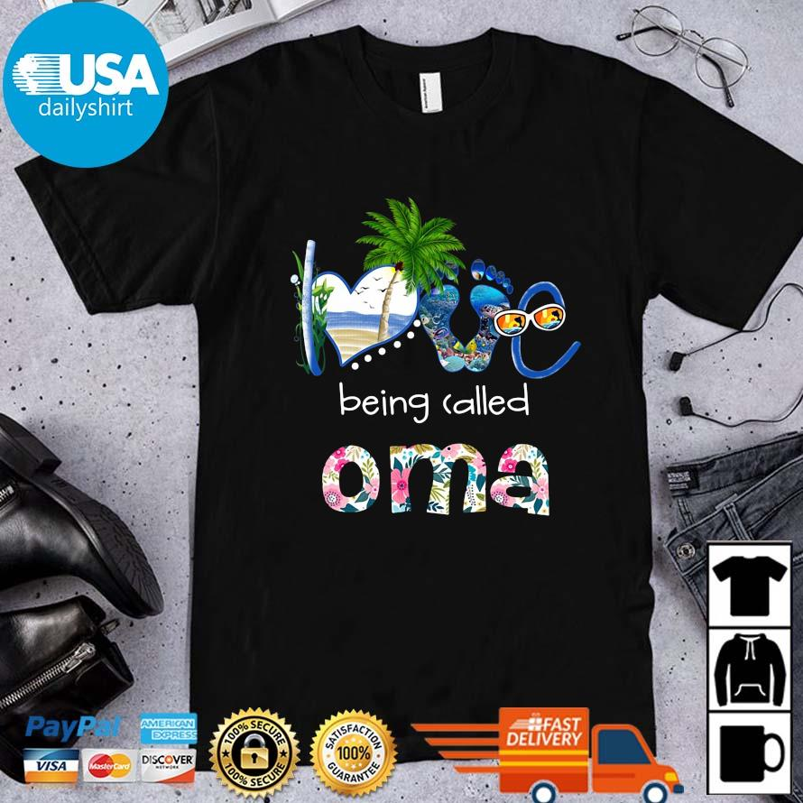 Summer love being called oma flower shirt