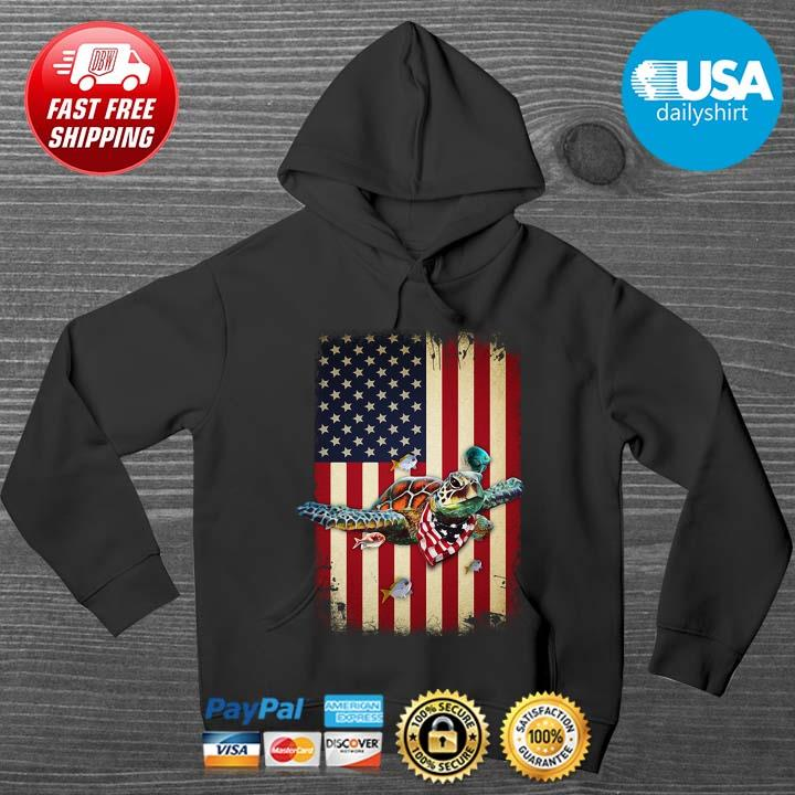 Turtles American Flag 4th Of July Shirt HOODIE DENS